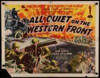 6k012 ALL QUIET ON THE WESTERN FRONT 1/2sh R50 Lew Ayres, WWII classic, different art!
