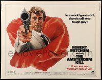 6k017 AMSTERDAM KILL 1/2sh '78 John Solie artwork of tough guy Robert Mitchum pointing revolver!