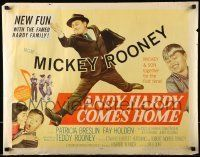 6k021 ANDY HARDY COMES HOME style A 1/2sh '58 Mickey Rooney & son Teddy together for the first time!