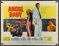 6k022 ANGEL BABY 1/2sh '61 full-length George Hamilton standing with sexiest Salome Jens!