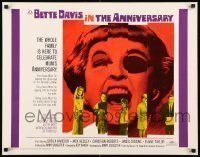 6k023 ANNIVERSARY 1/2sh '67 Bette Davis with funky eyepatch in another portrait in evil!