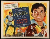 6k026 AS YOU LIKE IT reviews 1/2sh R49 Sir Laurence Olivier in Shakespeare's romantic comedy!