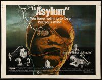 6k028 ASYLUM 1/2sh '72 Peter Cushing, Britt Ekland, written by Robert Bloch, horror!