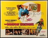 6k032 BAREFOOT EXECUTIVE 1/2sh '71 Disney, art of Kurt Russell & wacky chimp gone bananas!