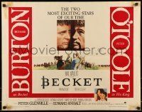 6k036 BECKET 1/2sh '64 Richard Burton in the title role, Peter O'Toole as the King!