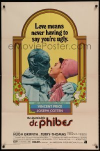 7b012 ABOMINABLE DR. PHIBES 1sh 1971 Price, love means never having to say you're ugly