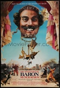 7b015 ADVENTURES OF BARON MUNCHAUSEN 1sh 1988 directed by Terry Gilliam, Casaro art!