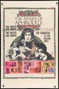 7b019 AFFAIRS OF APHRODITE 1sh 1970 she's the reason why the Greeks are coming!