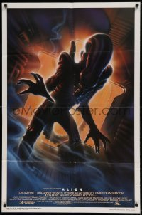 7b021 ALIEN style A Kilian 1sh R1994 Ridley Scott outer space classic, cool different Alvin art!