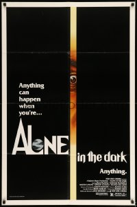 7b025 ALONE IN THE DARK 1sh 1982 cool completely different art of eye peeking through crack!