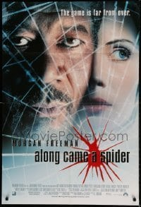 7b026 ALONG CAME A SPIDER int'l DS 1sh 2001 Morgan Freeman & Monica Potter, Kiss the Girls sequel!