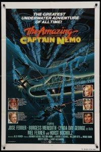 7b028 AMAZING CAPTAIN NEMO int'l 1sh 1978 sci-fi art of divers in the greatest underwater adventure!