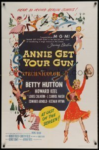 7b036 ANNIE GET YOUR GUN 1sh R1962 Betty Hutton as the greatest sharpshooter, Howard Keel