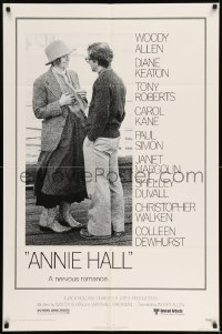 7b037 ANNIE HALL 1sh 1977 full-length Woody Allen & Diane Keaton in a nervous romance!