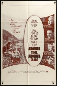 7b039 ANOTHER TIME ANOTHER PLACE military 1sh R1960s sexy Lana Turner has affair w/young Sean Conner