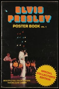 7g028 ELVIS PRESLEY POSTER BOOK VOL. 1 softcover book 1977 great full-color images you can display!