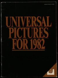 7g020 UNIVERSAL 1982 campaign book 1982 includes great advance ad for E.T., The Thing + more!