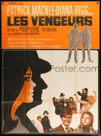 7g729 AVENGERS French 1p 1968 Diana Rigg, Patrick Macnee, cool differrent art by Saukoff!