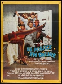 7g730 BACHELOR PARTY French 1p 1984 wild wacky image of hard partying Tom Hanks & sexy legs!