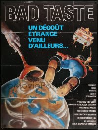 7g732 BAD TASTE French 1p 1988 early Peter Jackson, cool different sci-fi art by Kena-Watorek!
