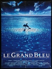 7g743 BIG BLUE French 1p 1988 Luc Besson's Le Grand Bleu, cool image dolphin in ocean!