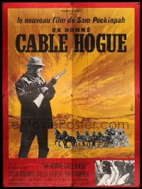 7g631 BALLAD OF CABLE HOGUE French 4p 1970 Sam Peckinpah, Jason Robards, Stella Stevens, Mascii art!