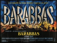 7g632 BARABBAS French 4p 1963 directed by Richard Fleischer, cool Jean Mascii title art!