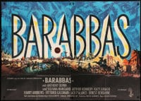 7g144 BARABBAS German 2p 1962 Richard Fleischer, Anthony Quinn, Silvana Mangano, cool title artwork!
