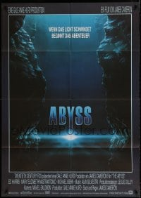 7g147 ABYSS German 33x47 1989 directed by James Cameron, Ed Harris, Mary Elizabeth Mastrantonio