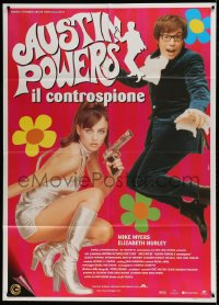 7g421 AUSTIN POWERS: INT'L MAN OF MYSTERY Italian 1p 1997 Mike Myers, sexy Elizabeth Hurley!