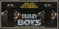 7g305 BAD BOYS Italian 3p 1983 cool different art with leather jackets & sunglasses!