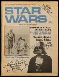7g075 STAR WARS vol 1 no 1 magazine 1977 George Lucas, dozens of rare photos, some behind the scenes