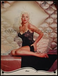 7g053 DIANA DORS 11x15 calendar sample 1960s the sexy English blonde bombshell in skimpy nightie!