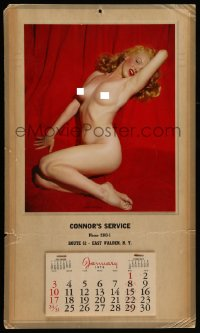 7g051 MARILYN MONROE Golden Dreams calendar 1954 classic nude image from first Playboy centerfold!