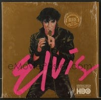 7g063 ELVIS ONE NIGHT WITH YOU soundtrack record 1985 includes a 19x24 poster of The King!
