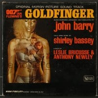7g065 GOLDFINGER soundtrack record 1964 original James Bond music composed & conducted by John Barry