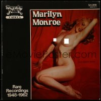 7g067 MARILYN MONROE 33 1/3 RPM record 1979 Rare Recordings 1948-1962, Golden Dreams nude on cover!