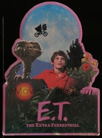 7g058 E.T. THE EXTRA TERRESTRIAL die-cut standee 1982 Spielberg classic, best bike over moon image!