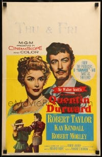 7g172 ADVENTURES OF QUENTIN DURWARD WC 1955 English hero Robert Taylor romances pretty Kay Kendall!