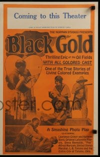 7g031 BLACK GOLD pressbook 1927 exact full-size image of the 14x22 window card!