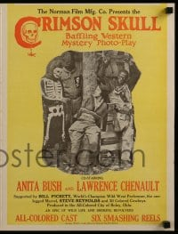 7g032 CRIMSON SKULL pressbook 1921 colored cowboys Anita Bush & Lawrence Chenault!