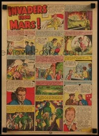 7g034 INVADERS FROM MARS pressbook 1953 classic sci-fi, includes cool full-color comic strip herald!