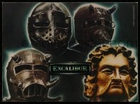7g043 EXCALIBUR promo brochure 1981 directed by John Boorman, Nigel Terry as King Arthur!