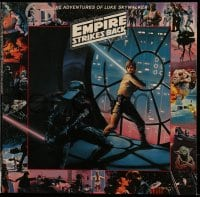 7g064 EMPIRE STRIKES BACK soundtrack record 1979 The Adventures of Luke Skywalker with narration!
