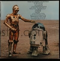 7g071 STORY OF STAR WARS soundtrack record 1977 George Lucas' movie narrated by Roscoe Lee Browne!