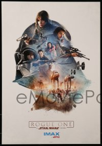 7g076 ROGUE ONE set of 3 IMAX mini posters 2016 A Star Wars Story, cool different montage art!