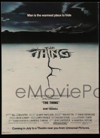 7g046 THING promo brochure 1982 John Carpenter, cool images of Kurt Russell + different art!