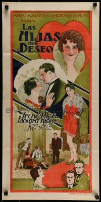 7m244 DAUGHTERS OF DESIRE Argentinean 14x29 1929 Irene Rich's stepmother confesses to her murder!