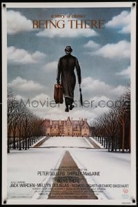 7m228 BEING THERE int'l 1sh 1980 Peter Sellers, a story of chance directed by Hal Ashby, cool art!