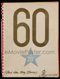7m140 20TH CENTURY FOX 60 AT 20TH campaign book 1959 Marilyn Monroe & 60 other stars, ultra rare!